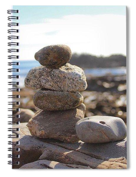 Peceful Zen Rocks Spiral Notebook