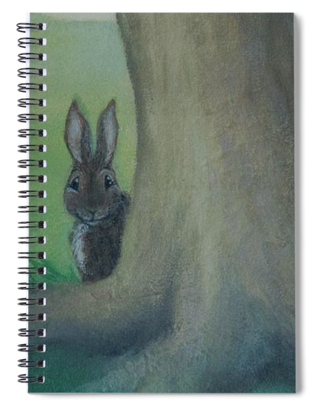 Peek A Boo Behind The Tree Spiral Notebook