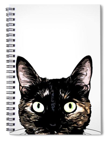 Peeking Cat Spiral Notebook