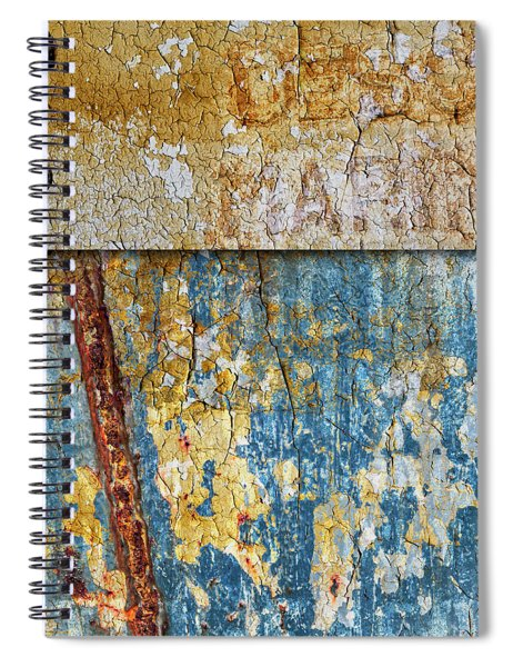 Peeling Paint And Rusty Metal Spiral Notebook