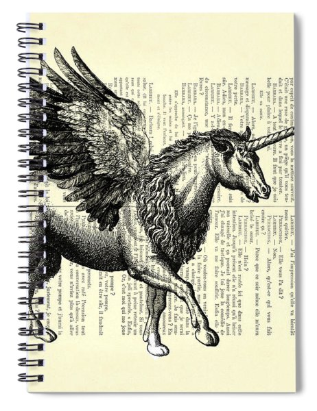 Pegasus Black And White Spiral Notebook