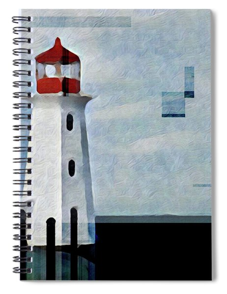 Peggys Cove Lighthouse Painterly Look Spiral Notebook