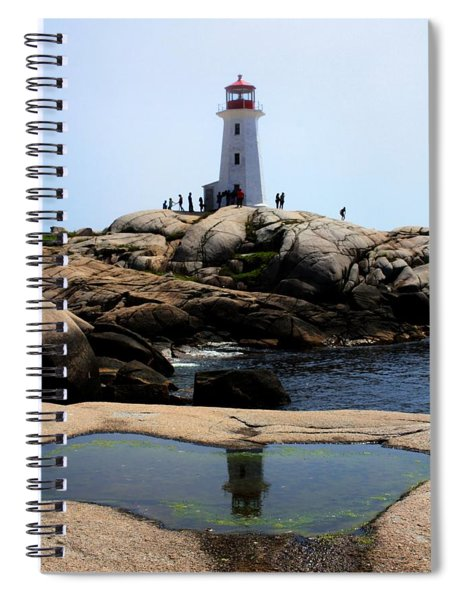 Peggys Light House Relfection  Spiral Notebook