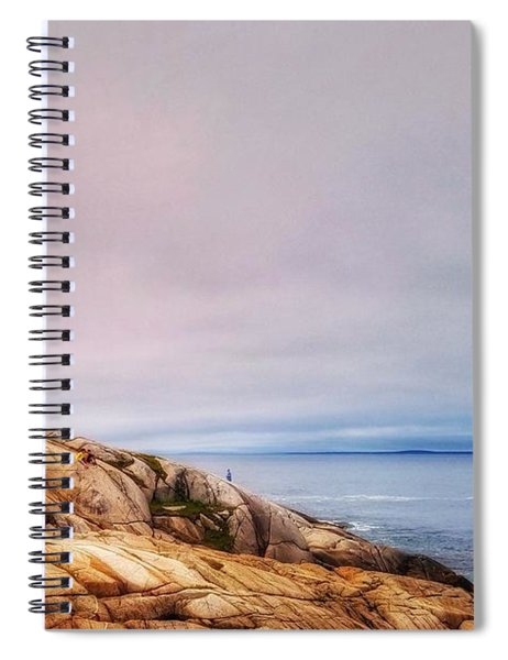 Peggys Point Lighthouse Spiral Notebook
