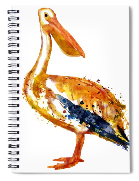 Pelican Watercolor Painting Spiral Notebook