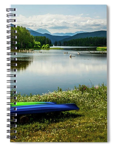 Pelicans At Shadow Mountain Lake Spiral Notebook
