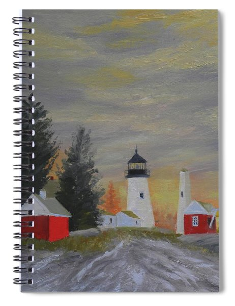 Pemaquid Light South View Spiral Notebook