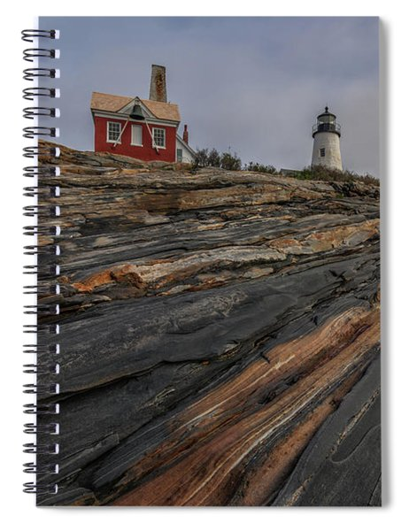 Pemaquid Point Cliffs Spiral Notebook