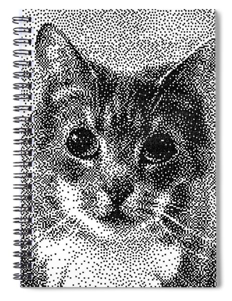 Pen Pixel Cat Spiral Notebook