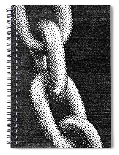 Pen Pixel Chains Spiral Notebook