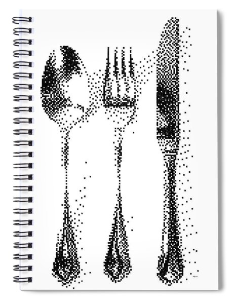Pen Pixel Cutlery Spiral Notebook