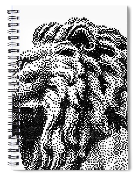 Pen Pixel Royal Lion Spiral Notebook