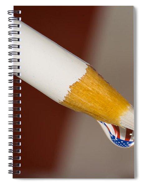 Pencil Flag Drop Spiral Notebook