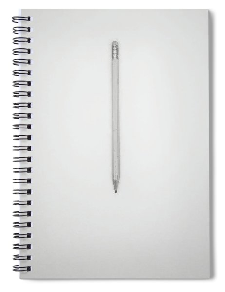 Pencil On A Blank Page Spiral Notebook