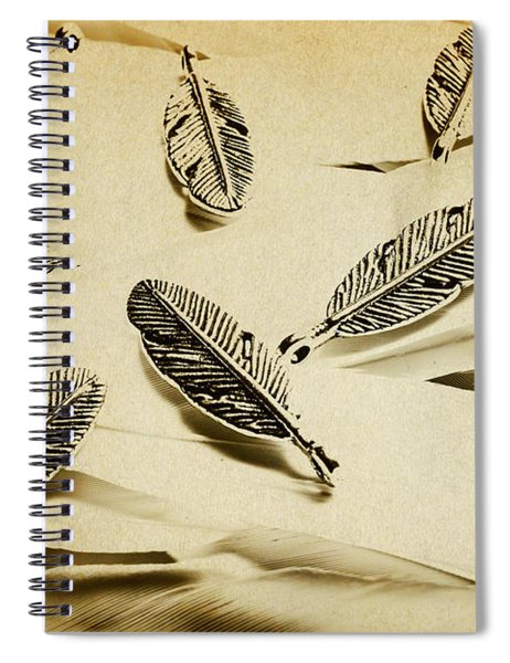 Pendants And Quills Spiral Notebook