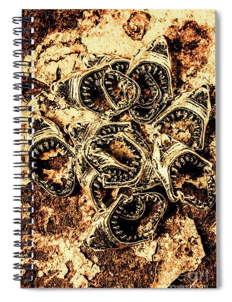 Pendants From A Shark Attack Spiral Notebook