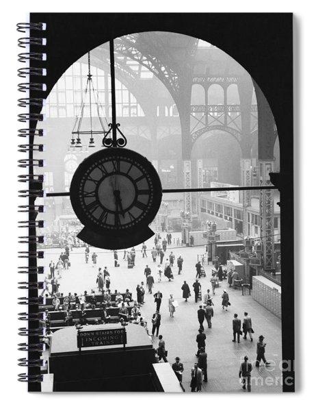 Penn Station Clock Spiral Notebook