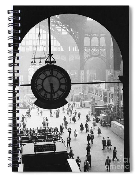Penn Station Clock Spiral Notebook