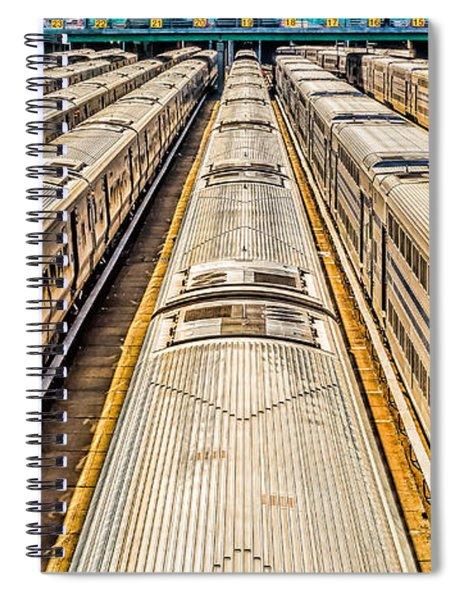 Penn Station Train Yard Spiral Notebook