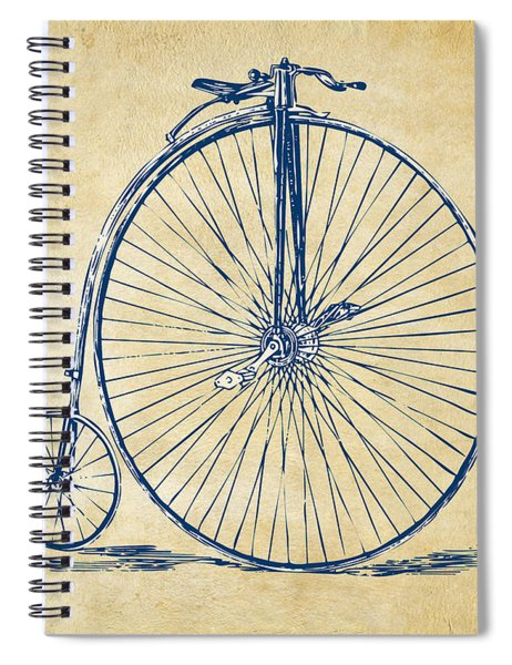 Penny-farthing 1867 High Wheeler Bicycle Vintage Spiral Notebook