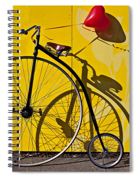 Penny Farthing Love Spiral Notebook