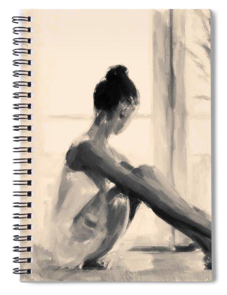 Pensive Ballerina Spiral Notebook
