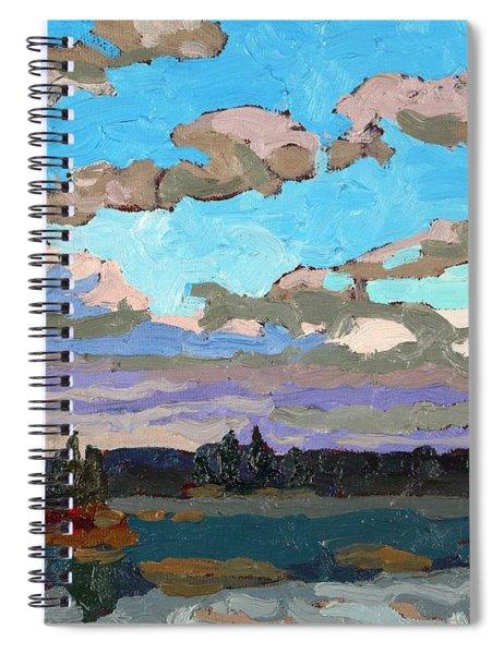 Pensive Clouds Spiral Notebook