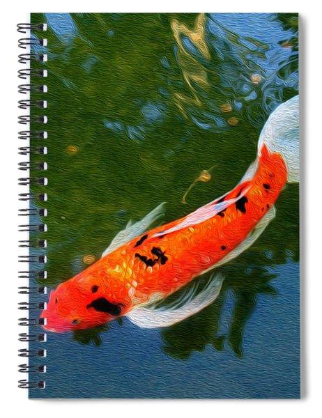 Pensive Koi Spiral Notebook