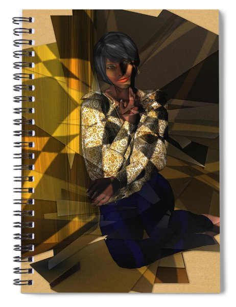 Pensive Woman Spiral Notebook