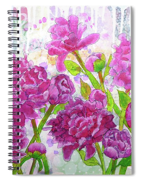 Peony Profusion Spiral Notebook