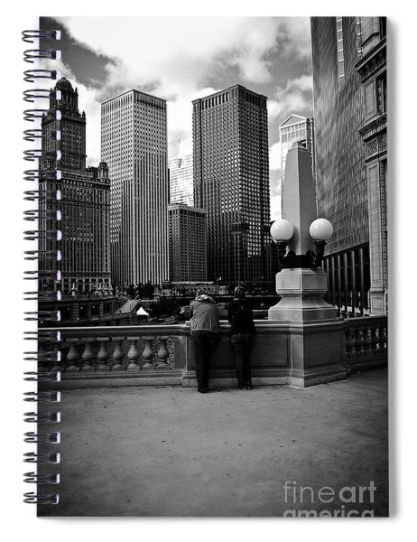 People And Skyscrapers Spiral Notebook