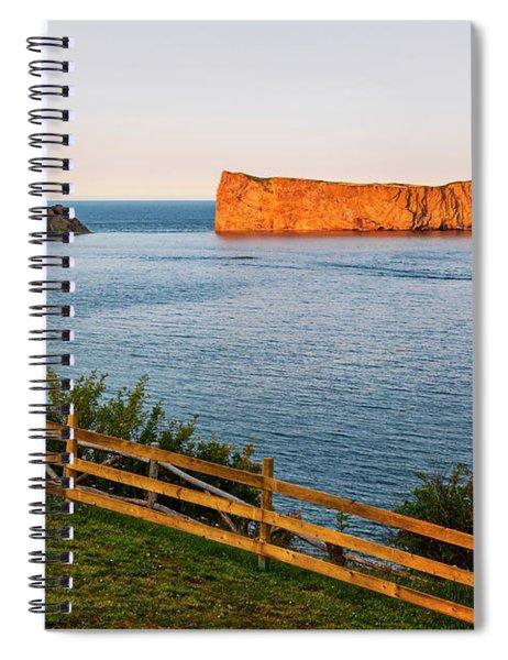 Perce Rock At Sunset Spiral Notebook