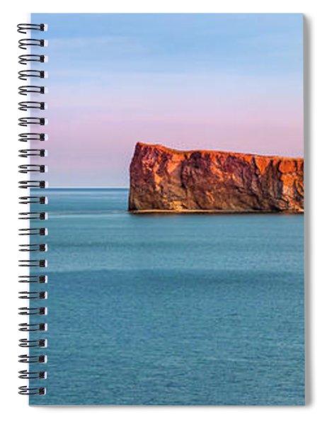 Perce Rock Panorama At Sunset Spiral Notebook