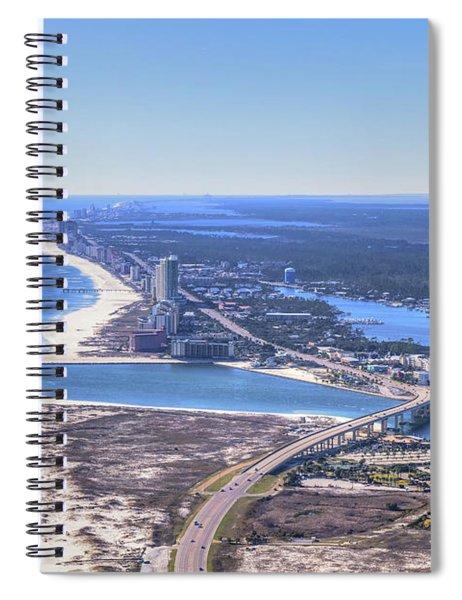 Perdido Pass Bridge 4319 Spiral Notebook