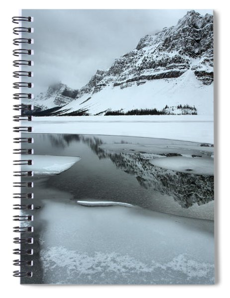 Perfect Reflections In The Icy Waters Of Bow Spiral Notebook