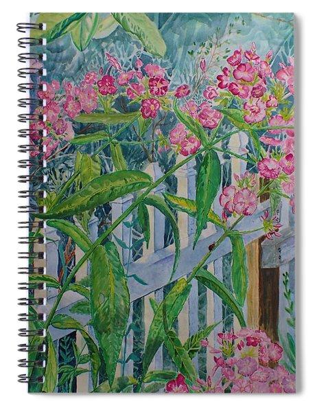 Perky Pink Phlox In A Dahlonega Garden Spiral Notebook