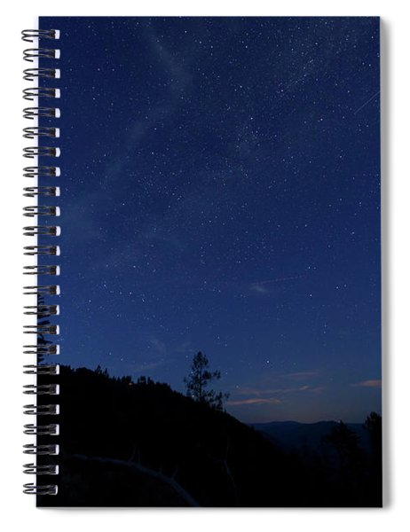 Perseids Meteor Shower 1 Spiral Notebook by Jim Thompson