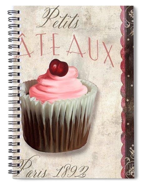 Petits Gateaux Chocolat Patisserie Spiral Notebook