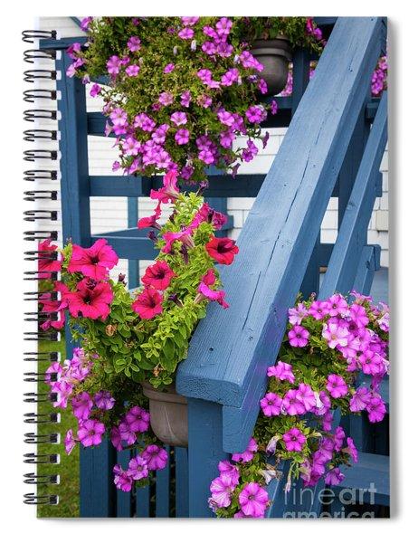 Petunias On Blue Porch Spiral Notebook
