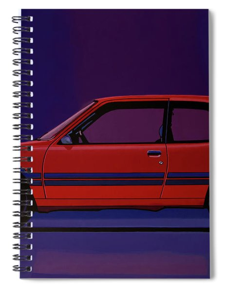 Peugeot 205 Gti 1984 Painting Spiral Notebook