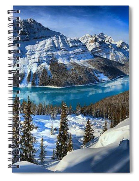 Peyto Lake Winter Panorama Spiral Notebook