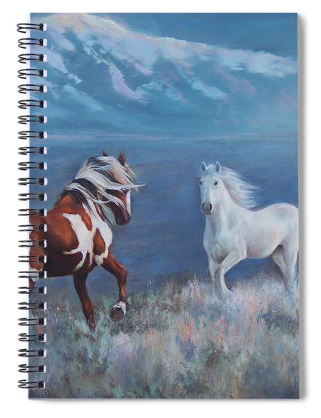 Phantom Of The Mountains Spiral Notebook