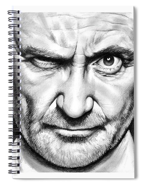 Phil Collins Spiral Notebook