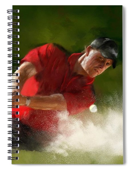 Phil Mickelson - Lefty In Action Spiral Notebook