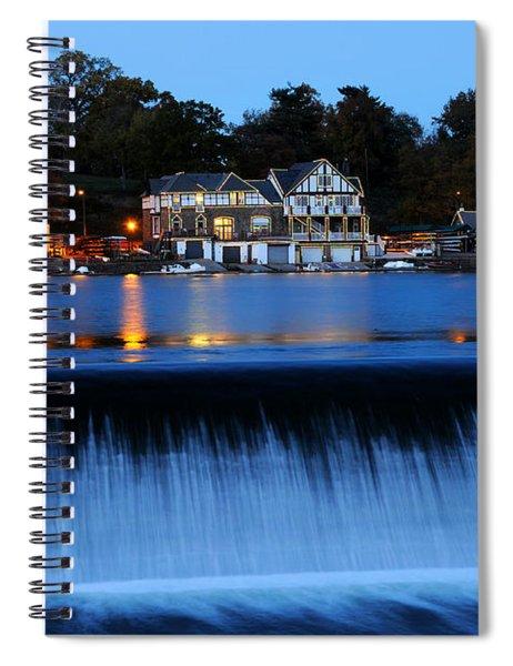 Philadelphia Boathouse Row At Twilight Spiral Notebook