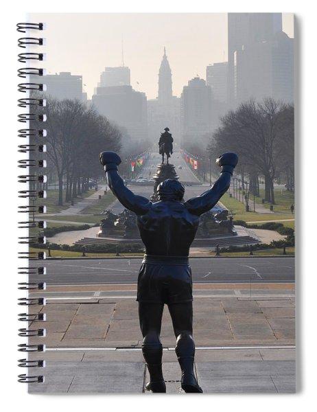 Philadelphia Champion - Rocky Spiral Notebook