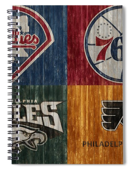 Philadelphia Sports Teams Spiral Notebook