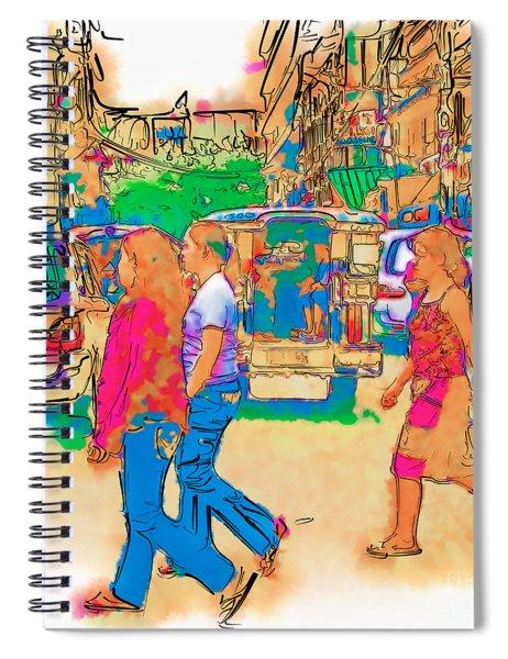 Philippine Girls Crossing Street Spiral Notebook