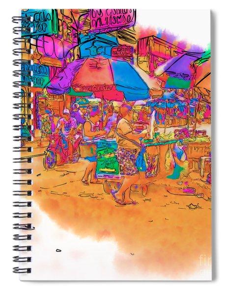 Philippine Open Air Market Spiral Notebook