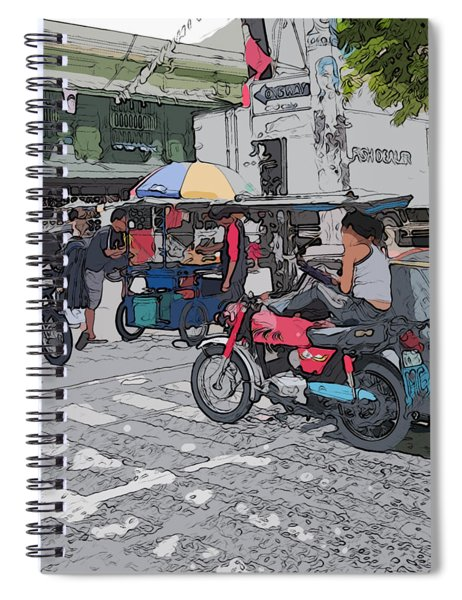 Philippines 673 Street Food Spiral Notebook